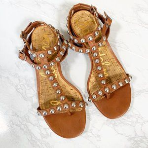 Sam Edelman Asbury Studded Block Heel Sandals 5.5